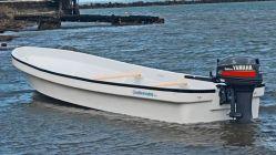 23FT 7m en fibre de verre à simple coque en fibre de verre/Yamaha pour la vente de bateau banana Panga