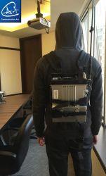Sac à dos de l'armée à la radio de véhicule dans un sac à dos pour l'armée /militaire de type