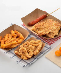 [إك] ودّيّة مستهلكة [بروون] [كرفت ببر] طعام زورق صينية