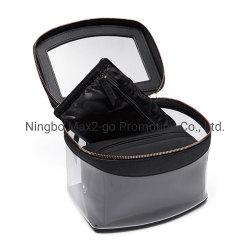 Новая конструкция PU моды леди макияж мешок поездки складные висящих набор туалетных принадлежностей косметический сумка из натуральной кожи