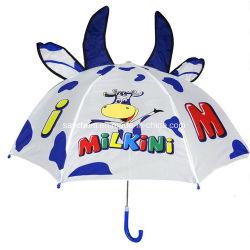 Los niños de dibujos animados de logotipo personalizado paraguas creativos Long-Handled Animación 3D Modelado oído paraguas para niños