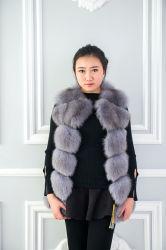 2018 donne Sleeveless della maglia della pelliccia di Fox della signora Winter Real della tuta sportiva di nuovo modo