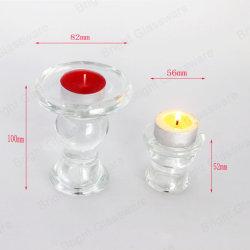 熱い販売の工場価格の安いガラスロウソクの瓶の蝋燭ホールダー