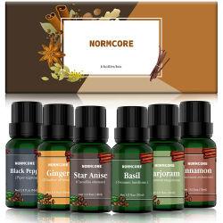 L'olio essenziale di Aromatherapy ha impostato 100% regalo puro naturale & organico degli oli dell'aroma del principale 6 del grado impostato per il diffusore e l'umidificatore