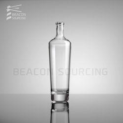 Diseño personalizado OEM ODM claro vacío de forma redonda personalizada 750ml de Vodka Gin claro de la moda de licor Whisky Ron Vodka Brandy botellas de vidrio de vidrio