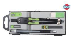 학교와 사무실 문구용품 공급을%s 다채로운 플라스틱 나침의 6 세트