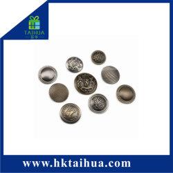 Retro Metal Jeans Botones para la prenda de vestir, Jeans botón personalizado con relieve remache