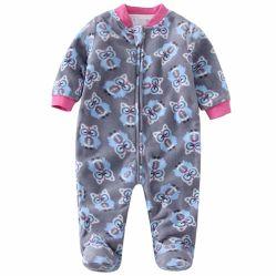 Fermeture à glissière sur pieds en molleton bébé à 2 couches de vêtements pour bébé Bébé costume à chaud