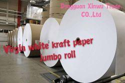 Acabamento da máquina (MF) Virgem de celulose Kraft branco 180g para cartões de visita em Papel Kraft