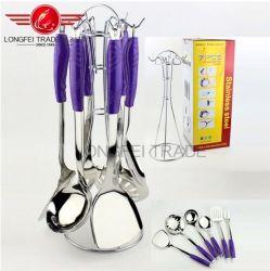 بيع ساخنة بالجملة 7PCS من الفولاذ المقاوم للصدأ قائمة أدوات المطبخ