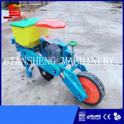 motocultor única fila de la sembradora de maíz con la fertilización del maíz en grano de la máquina de siembra de precisión