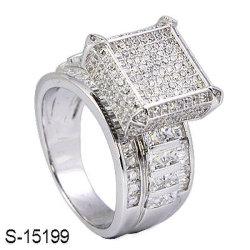 Hotsale moda joyas de plata 925 Micro allanado CZ Hotselling Anillo de dama