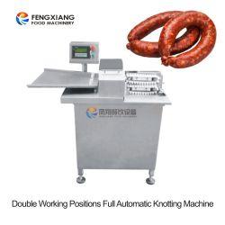 Tampa de salsicha automática de alta velocidade ligando vinculador máquina de torção de amarração