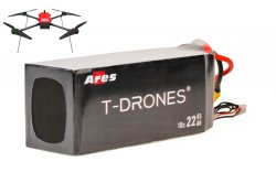 T無人機の熱い飛行時間30%増加されたAres 6s 30の500回のサイクル寿命251.7wh/Kgの000mAh 5cの無人機の充電電池