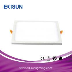 85-265V 80lm/W 6W/12W/18W/24W de l'éclairage LED pour panneau carré