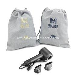 Hotel Cordón lienzo bordado bolsas para secador de pelo