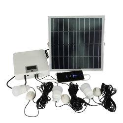 5pcs ampoules LED système d'éclairage solaire Kit avec chargeur de téléphone portable USB pour 4 chambres et le camping de l'éclairage du système de kits d'accueil de l'alimentation CC