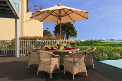모든 가든 가구 야외 등나무 가구설비 세트 호텔 알루미늄 테이블 & 의자 세트 파티오 다이닝 가구