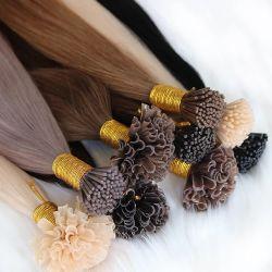Menschenhaar-Nagel-Spitze des u-Spitze-Keratin-Haar-Extensions-Maschine Remy Menschenhaar-Vor-Geklebte Schmelzverfahrens-Haar-50g 100% reale