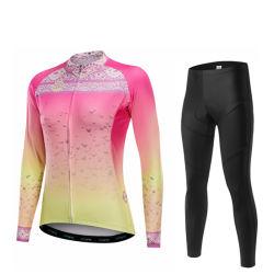 Donne stabilite Jersey di riciclaggio unica dei vestiti della bicicletta della molla di modo del manicotto lungo della bici di alta qualità dell'OEM