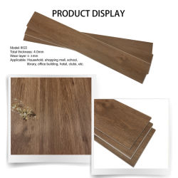 Material de PVC ignífugo antideslizamiento Vinilo Spc Piso Laminado mosaico para el cuarto de baño