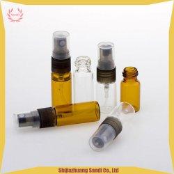3ml 5ml Minispraybrown-bernsteinfarbiger freier Duftstoff-Glasflasche