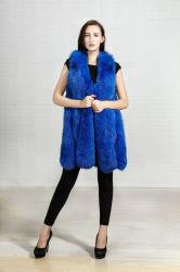 2018 nueva moda camiseta sin mangas de ropa de invierno de la señora Fox Real Fur Vest Mujer