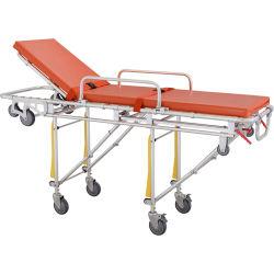 En acier inoxydable Alliage en aluminium de pliage civière chariot médical du patient d'urgence pour la vente