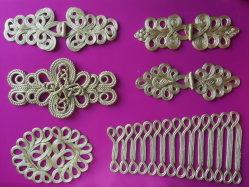 Artesanal tradicional nudo chino el botón de cierre de la Rana decoración fresado sujetador