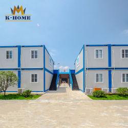 Bureau de chantier de construction Entrepreneurs vivant quarts conteneur modulaire préfabriquée chambre de luxe