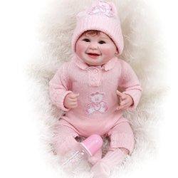 55cm, 다시 태어난 아기 돌l 미소 돌l 부드러운 몸체 100% 핸드메이드 수집품 아트 인형 미술품