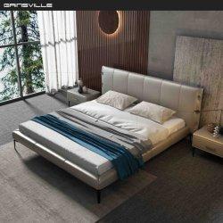 최신 판매 현대 가정 진짜 가죽 침대는 침실 가구를 중국제 놓는다