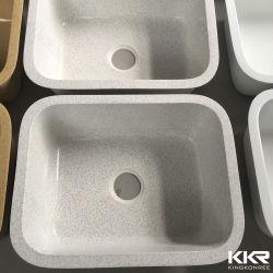 صلبة سطحيّة [متّ] قصع بيضاء وحيدة أكريليكيّ [كرين] مطبخ [أوندرموونت] بالوعة