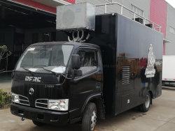 Le café de rue personnalisée avec éclairage LED de distributeurs alimentaires Mobile camion-remorque pour le Koweït