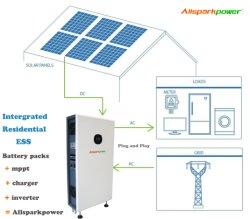 Plug and Play Allsparkpower hogar integrado de 5 Kw de potencia nominal de 14,4 kwh LiFePO4 Batería de almacenamiento de 10 años de garantía del sistema de almacenamiento de energía solar