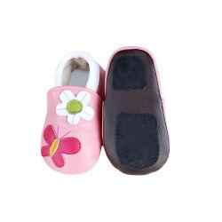 가죽 유아용 신발 첫 번째 워커 소프트 솔 아기 침대 보이 걸스 시프스킨 슈즈 미끄럼 방지 유아용 신발입니다