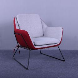 Usine de gros de nouvelle conception de mobilier simple moderne Set de loisirs de la conception de l'Europe tissu style Président Président avec le métal de la jambe
