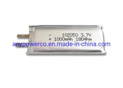 إمداد المصنع ببطارية ليثيوم أيون بوليمر قابلة لإعادة الشحن ذات حجم صغير حزمة بطارية ليبو ليبو ليطرية ليثيوم أيون 3.7 فولت 102050 لـ الجهاز الطبي