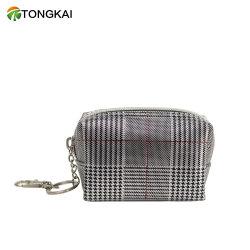 Водонепроницаемый мини-сумка для макияжа кожаные молнией цепочки ключей медали кошелек