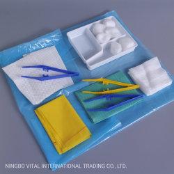 使い捨て可能な医学ドレッシングの製品の生殖不能のガーゼの綿棒の綿球のドレッシングセット