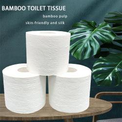 맞춤형 로고 OEM 제조업체 3 Ply Bamboo 백서 섬유 종이 편도제 변기 조직
