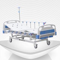 مستشفى تجهيز يدويّ مستشفى سرير طبيّة ثلاثة [كسنس] 3 - [فوبجمنت] اثنان القضبان الجانبية مع CE
