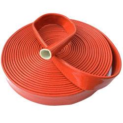 El aislamiento térmico de fibra de vidrio recubierto de silicona roja funda resistente al calor para la fundición de acero, fundición de metales no ferrosos, plantas de energía, Astillero