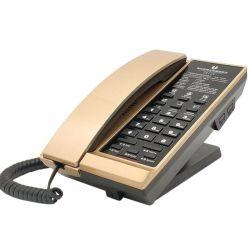 ホテルの客室には、モダンでユニークな固定電話が備わっている