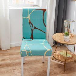 홈 장식 폴리에스테르 스판덱스 패브릭 하이 스트레치 다이닝룸 탄성 및 착탈식 의자 커버