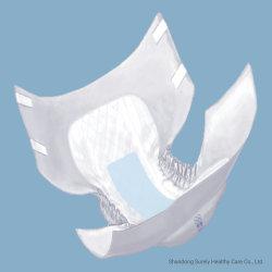 極度の通気性の柔らかい乾燥した快適な夜通しの印刷された布は大人タブのおむつを好む