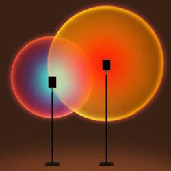 [رغب] [لد] حديثة قوس قزح غروب شروق عرض لين ضوء [فلوور لمب] لأنّ يعيش غرفة غرفة نوم مسلاط عطلة جوريّة زخرفة ضوء
