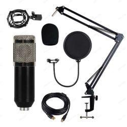 مكثف معدات الصوت استوديو سلكي بث الراديو الغناء الميكروفونات الحية ميكروفون مكثف USB المتدفق
