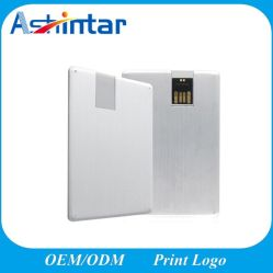 بطاقة الائتمان USB Memory Stick Swivel USB Pendrive Metal USB محرك القلم
