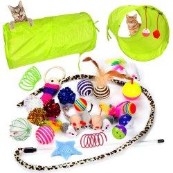 24匹の猫は子ネコのおもちゃの類別を2つの方法トンネル猫の羽のティーザー対話型の羽のおもちゃ柔らかいマウスしわの球もてあそぶ